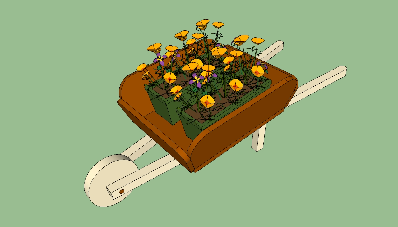 Wheelbarrow planter plans