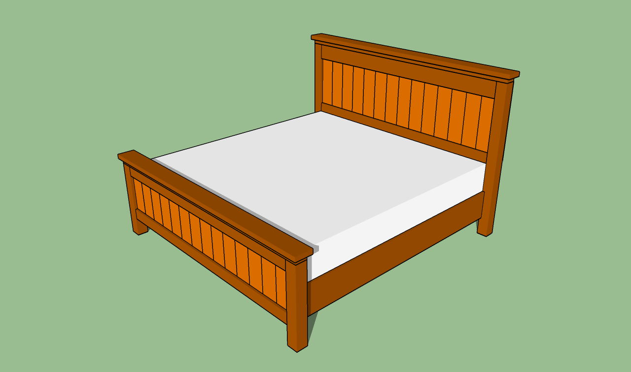 Woodwork king size bed frame building plans pdf plans for King size bed designs