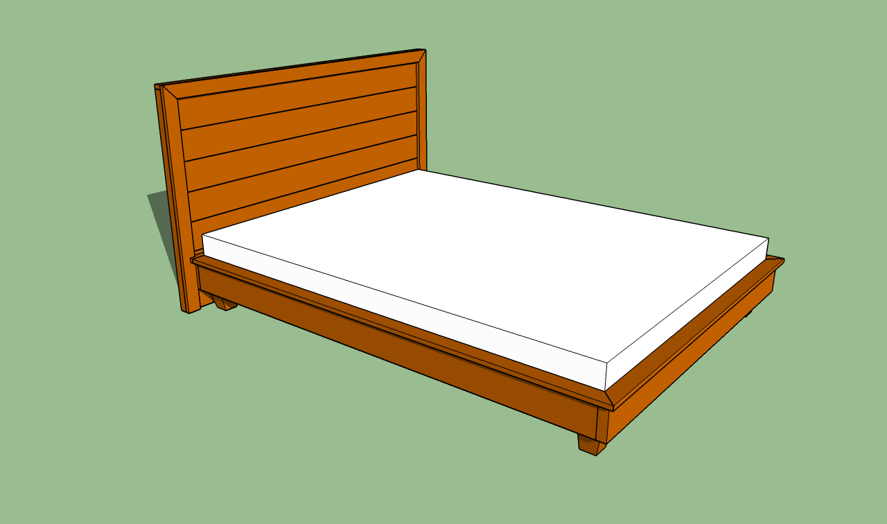 Spectacular How to build a platform bed frame