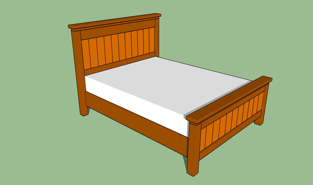 Diy wood bed frame plans - How To Build A Queen Size Bed Frame