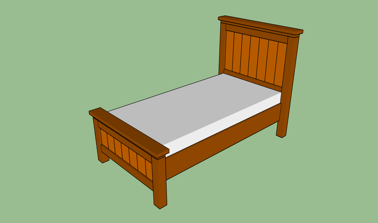 Ideal How to build a twin bed