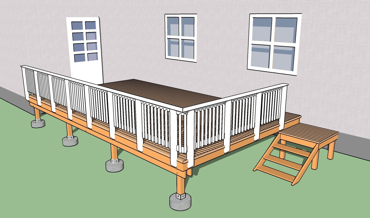 Picture of: Building Deck Railings Howtospecialist How To Build Step By Step Diy Plans