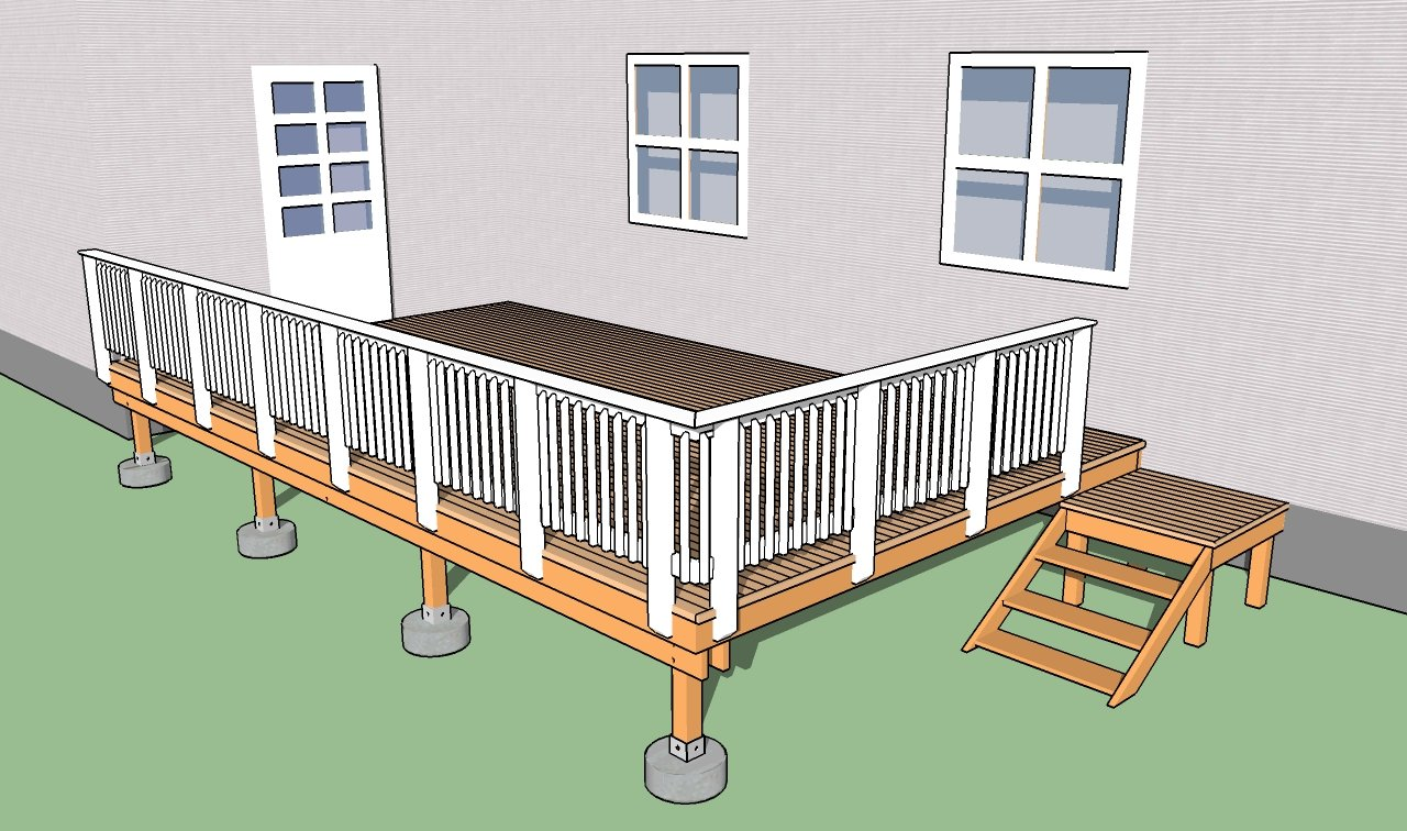 How to install a deck railing - Building Deck Railings