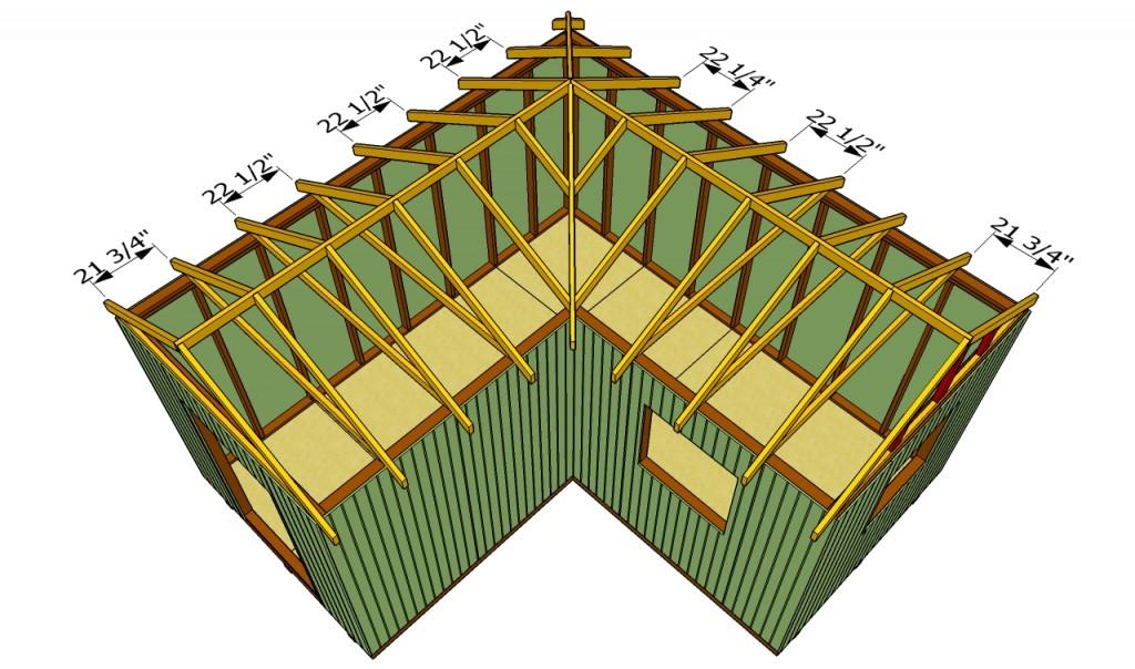 Построить угловую крышу своими руками