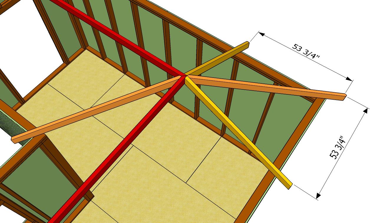 Строительство двускатной крыши частного дома своими руками пошагово 4