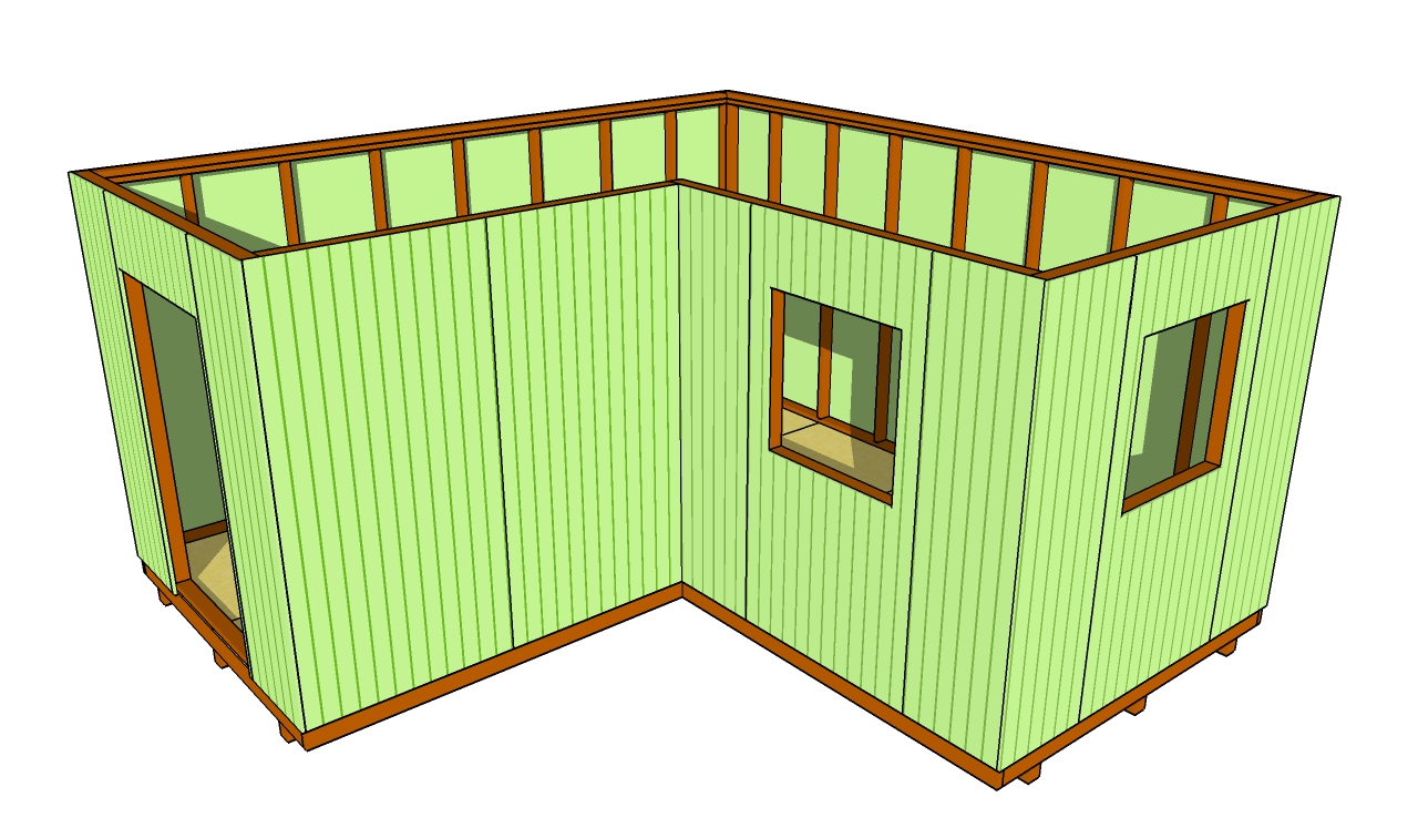 How to install siding on a shed