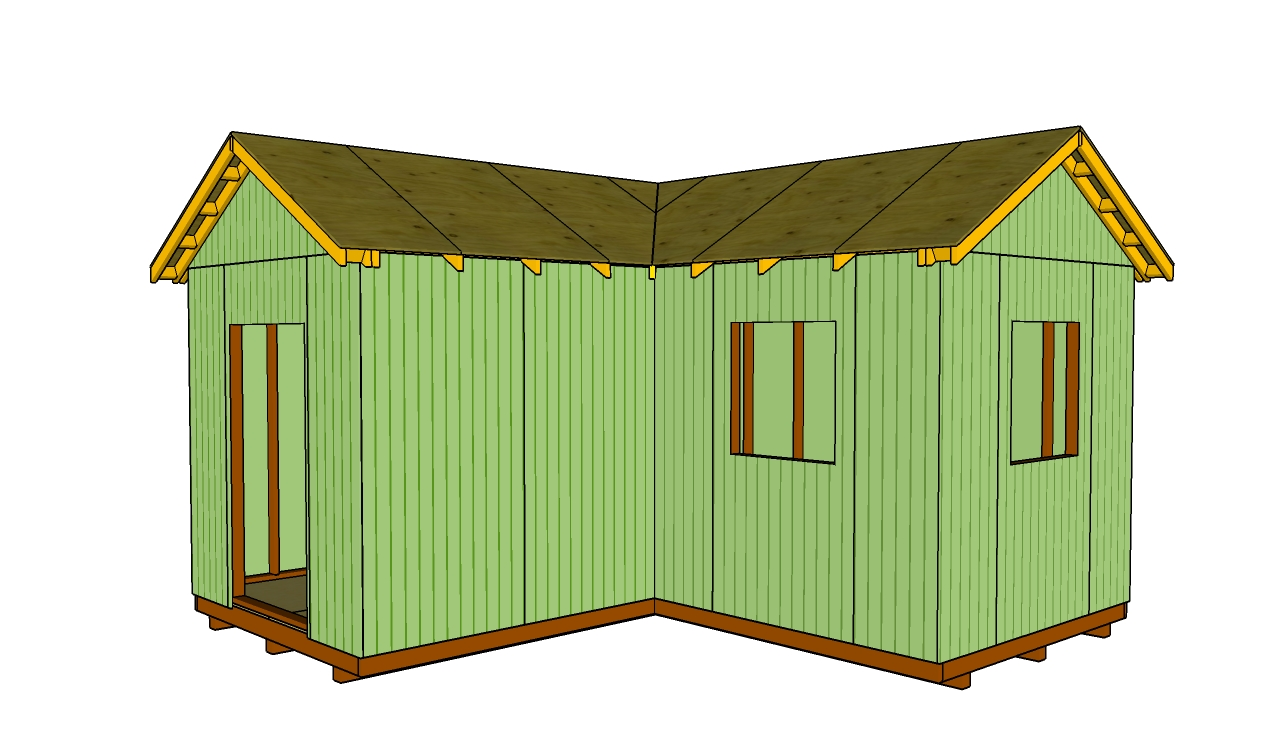L shaped shed howtospecialist how to build step by for L shaped shed