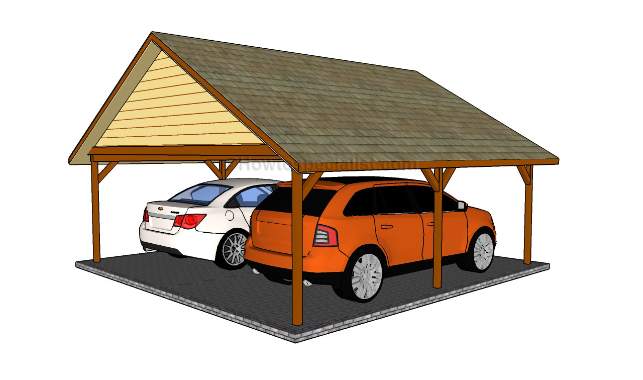 Pdf diy 2 car wood carport plans download amish direct Wood carport plans free