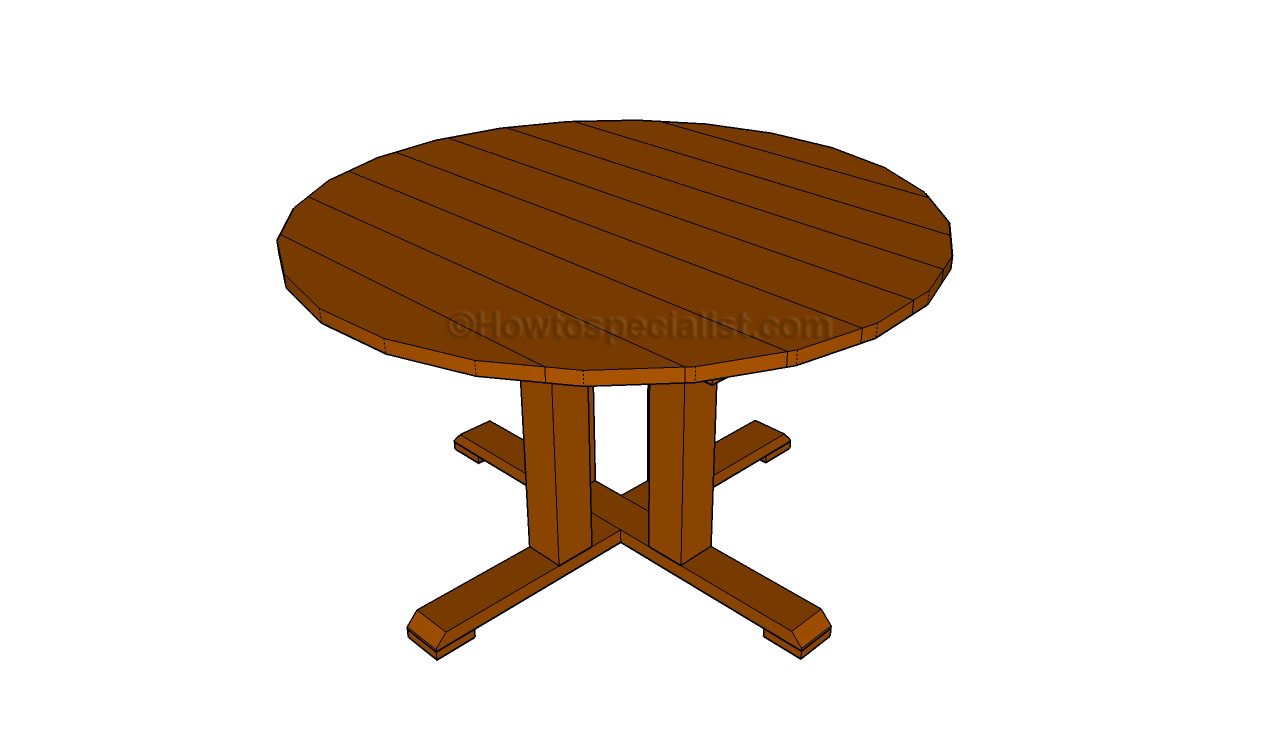 ... round table | HowToSpecialist - How to Build, Step by Step DIY Plans