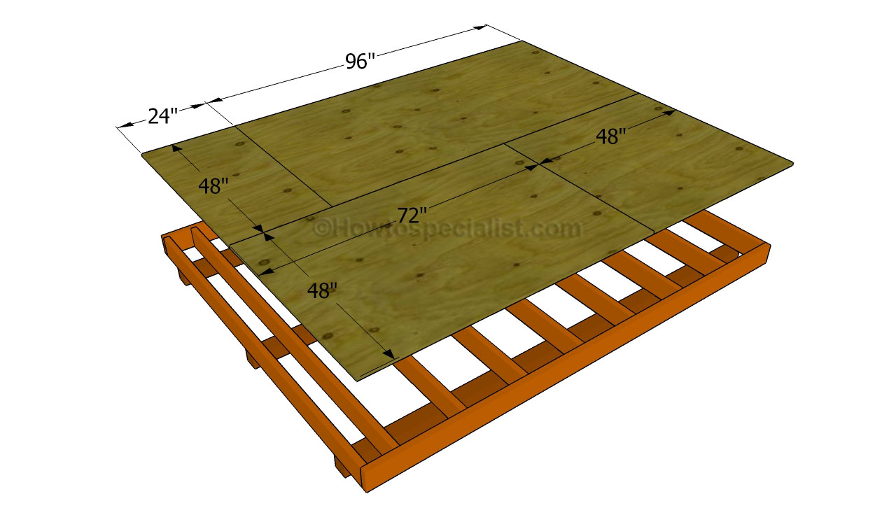 How to build a shed floor howtospecialist how to build for Shed floor plans