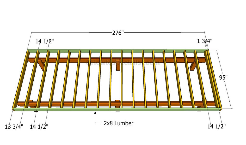 How to build a front porch howtospecialist how to for 16 by 16 deck plans