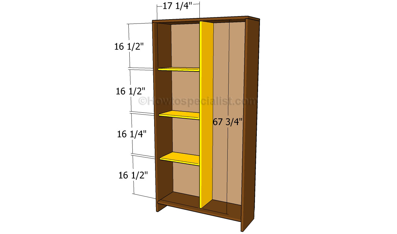 how to add shelves to an armoire