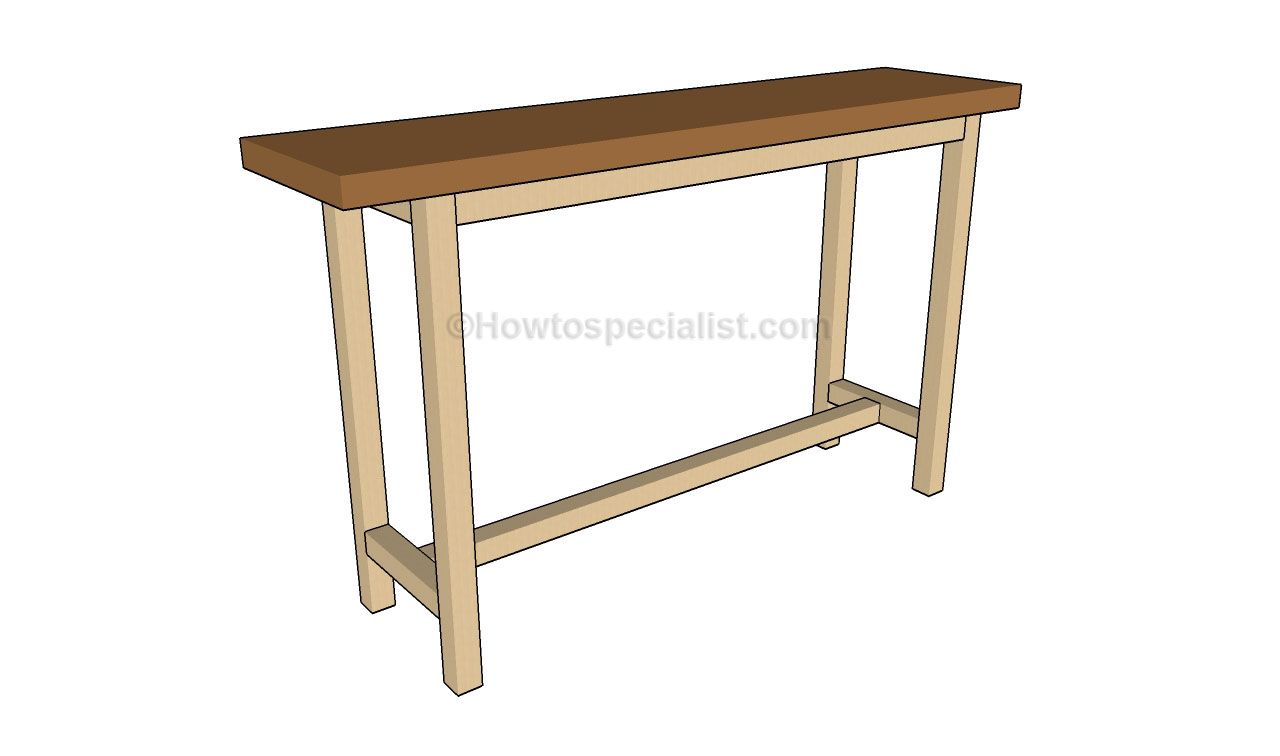 Console table plans howtospecialist how to build step for Table design plans