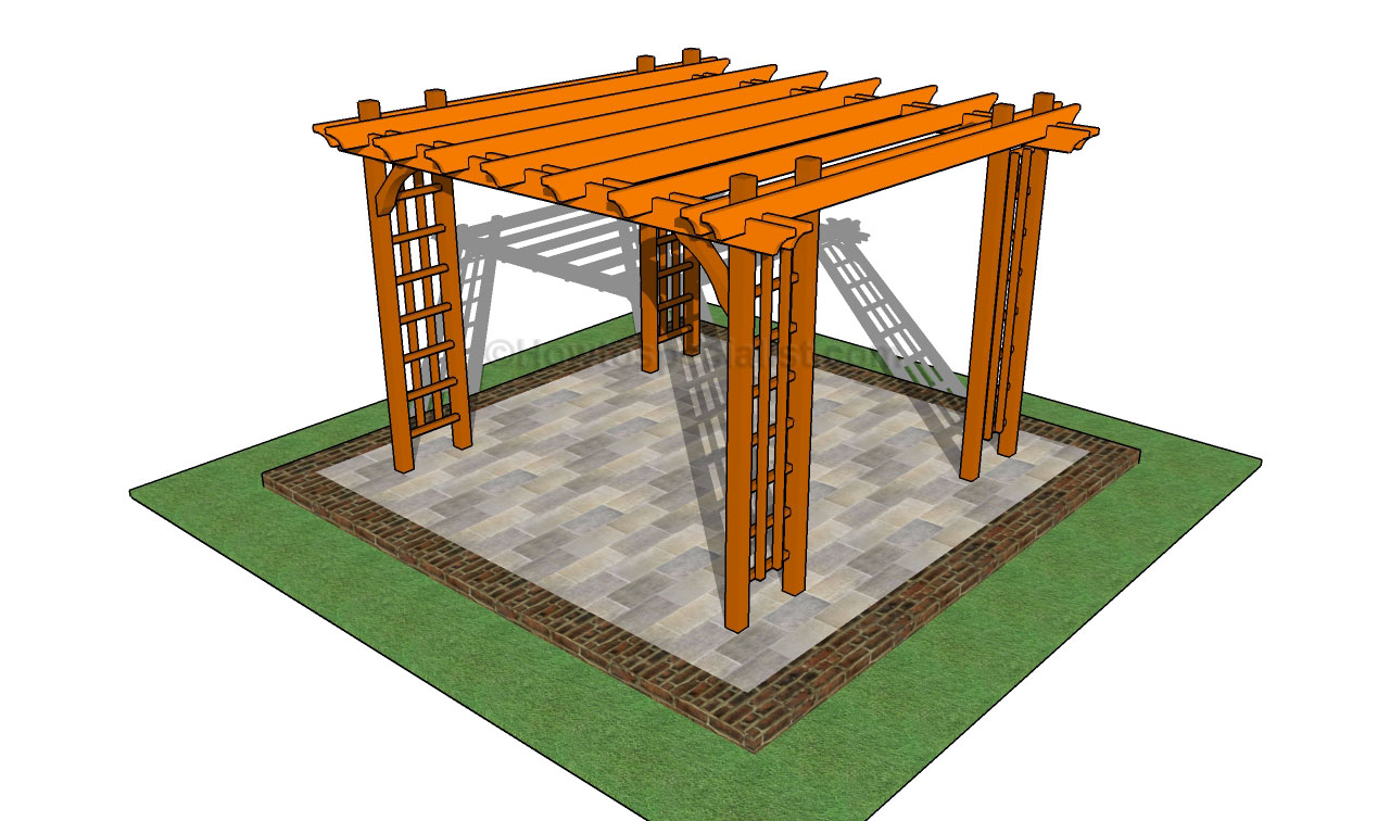 How to build a pergola on a patio | HowToSpecialist - How to Build ...