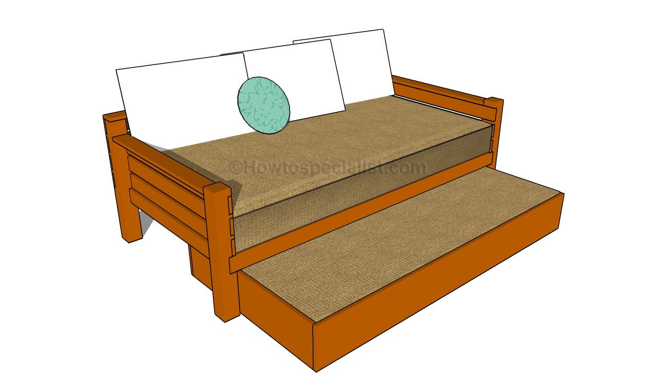 how to build a trundle bed