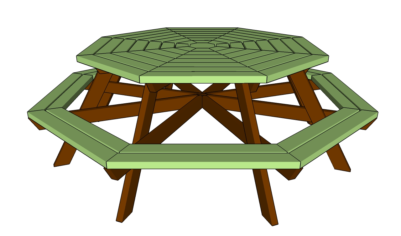 how do i build a picnic table Quick Woodworking Projects : How to build an octagon table from quickcashwvlm.com size 1280 x 756 jpeg 284kB