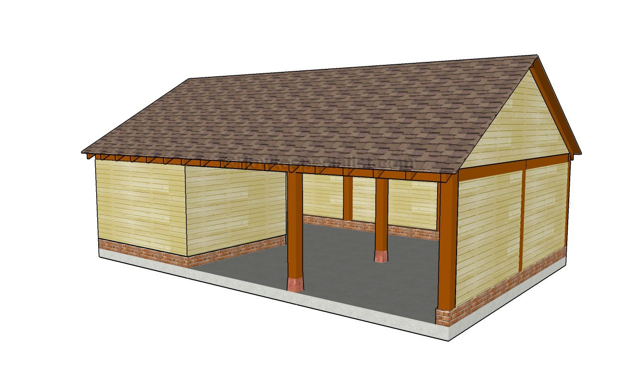 Woodwork storage building with carport plans pdf plans Wood carport plans free