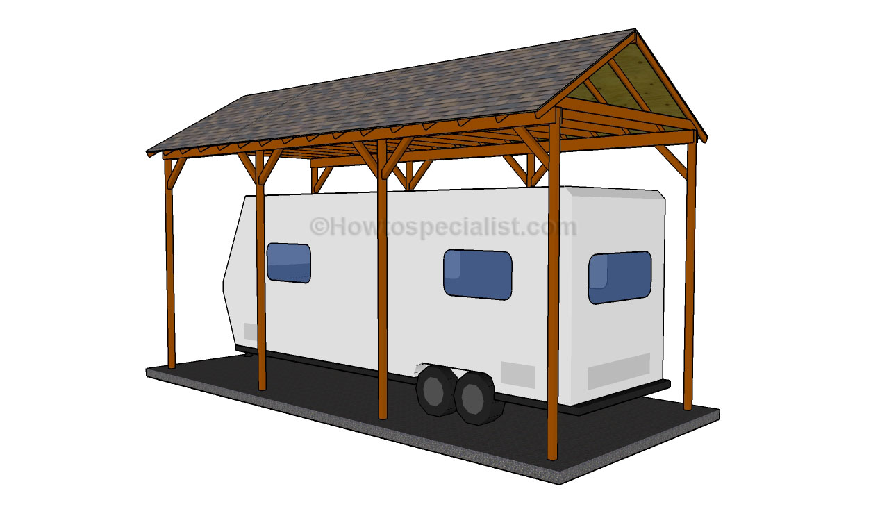Pdf diy rv carport plans wood download rollback porch Motorhome carport plans