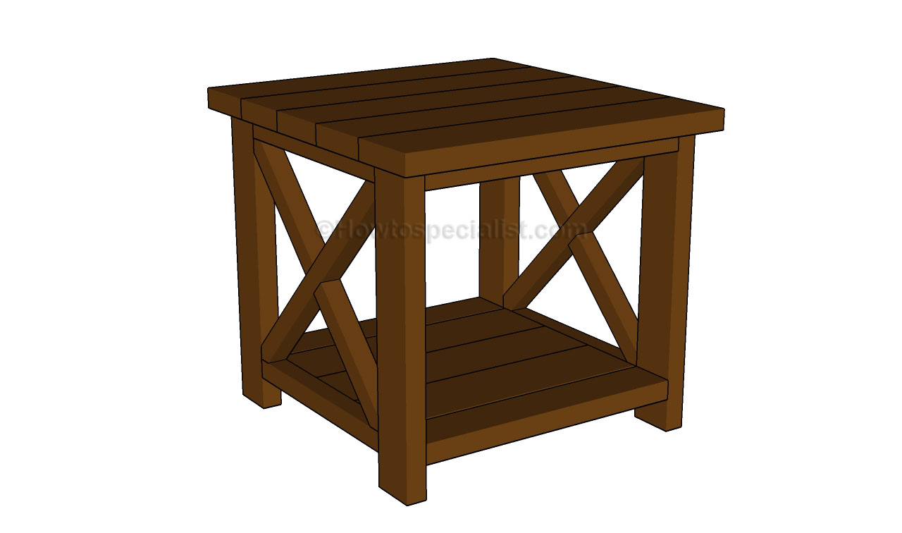 Pdf diy end table building plans download finish cabinets for Table design plans