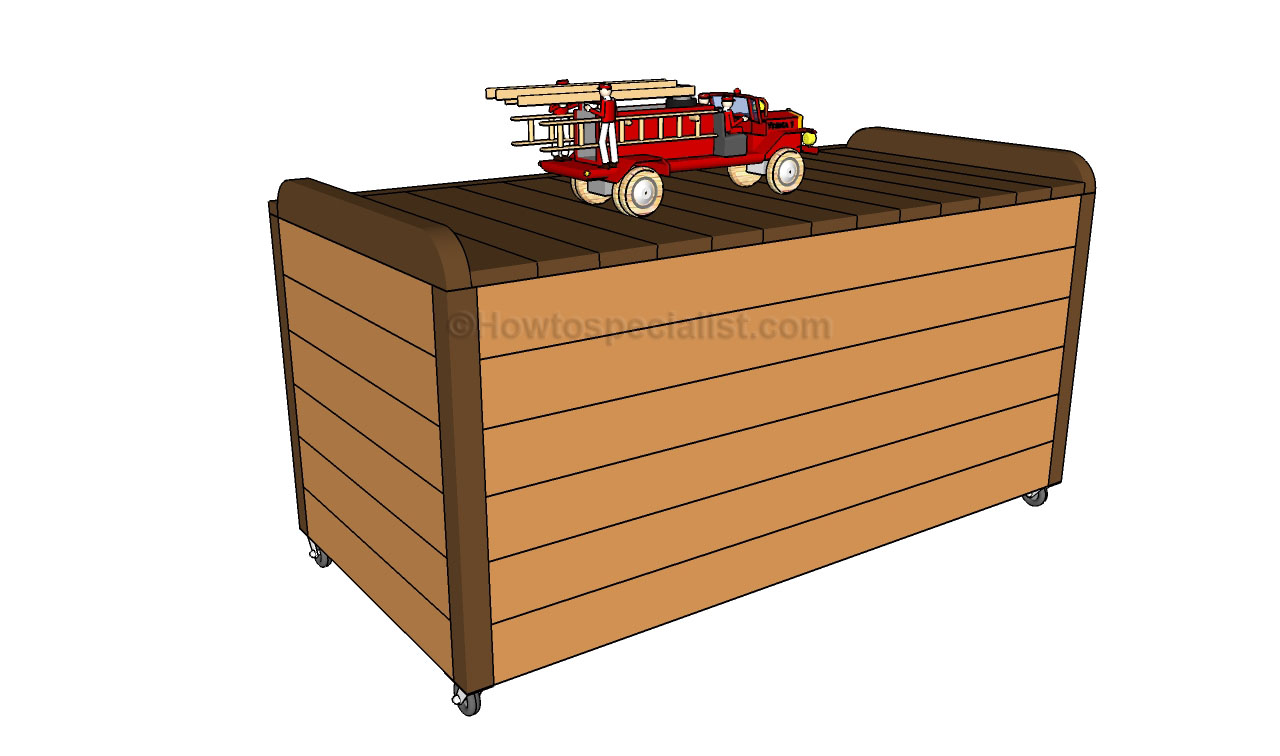 building wood toy chest