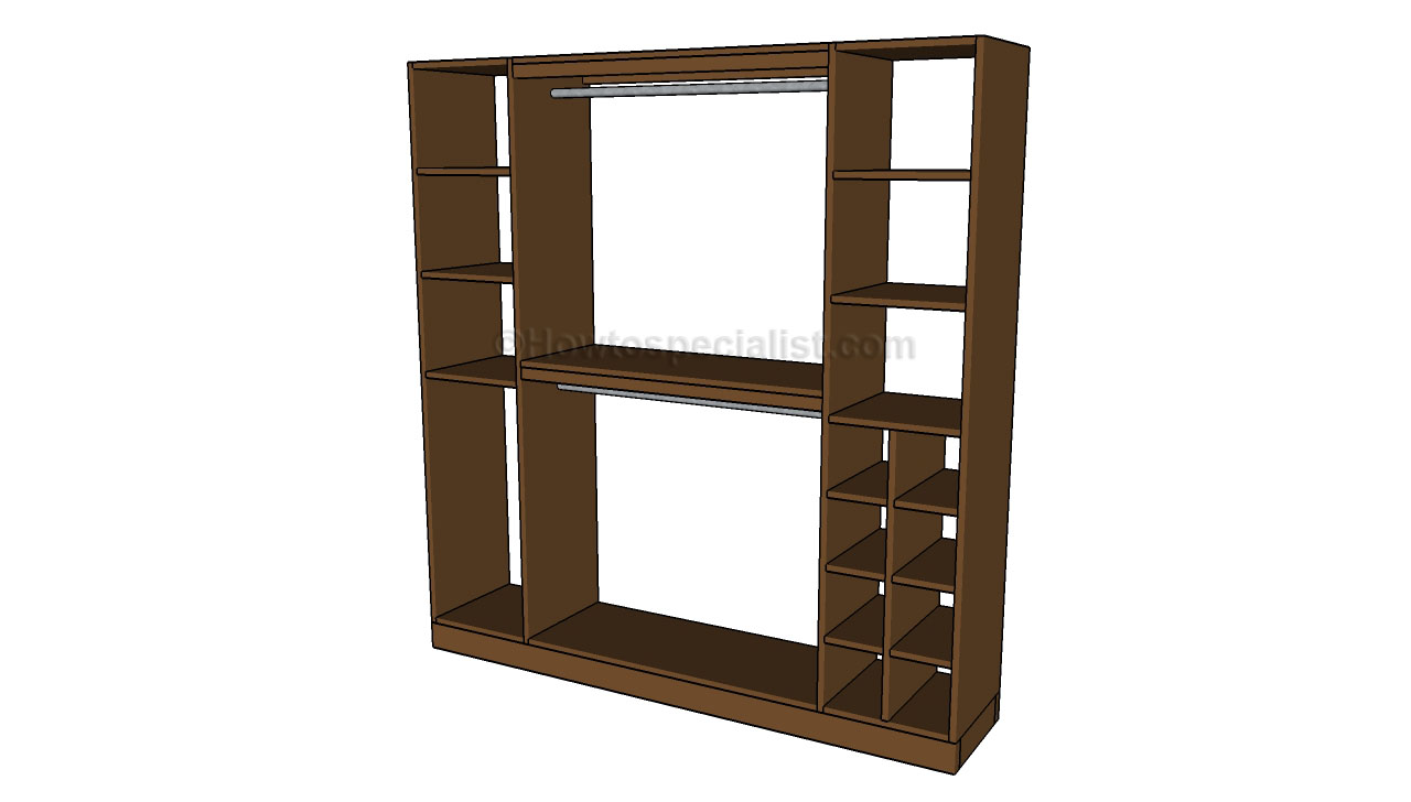 Build a closet organizer plans free download pdf woodworking for How to design closet storage