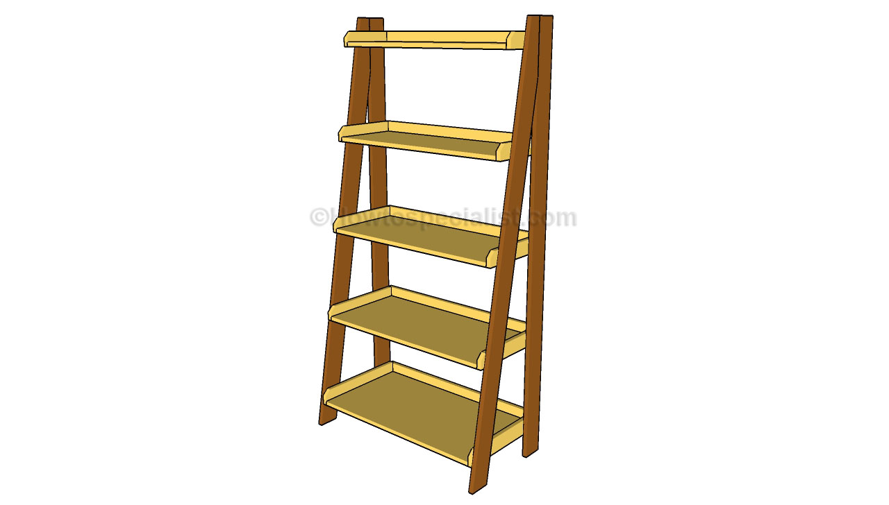 Bookcase Ladders Wooden Wooden Ladder Bookshelf Plans