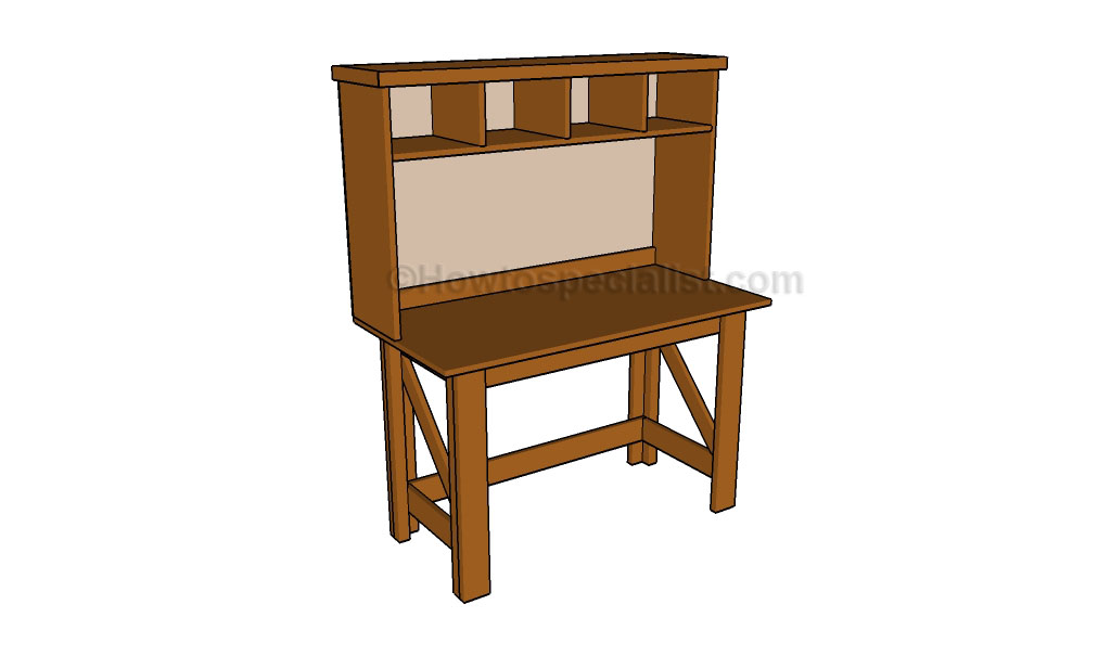Desk Hutch Plans | HowToSpecialist - How to Build, Step by Step DIY ...