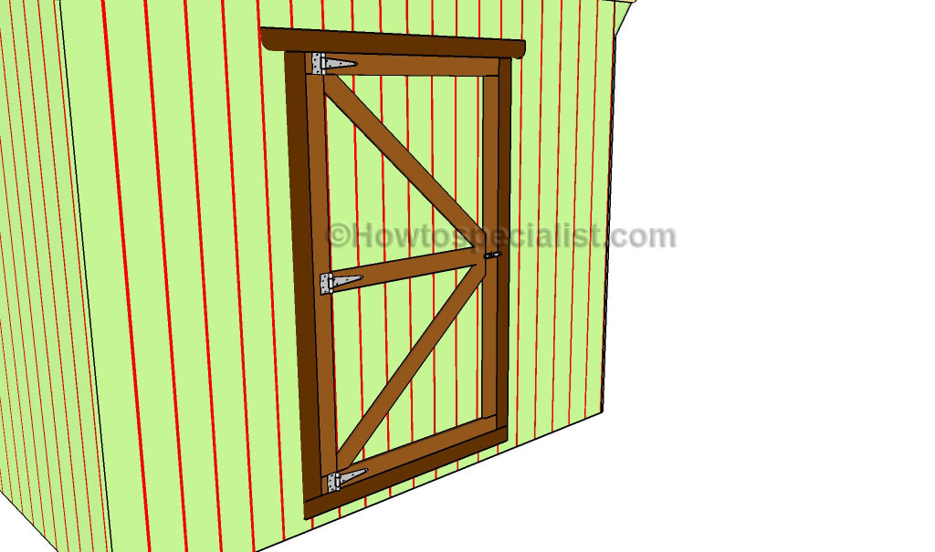 Shed door plans howtospecialist how to build step by for Exterior shed doors design