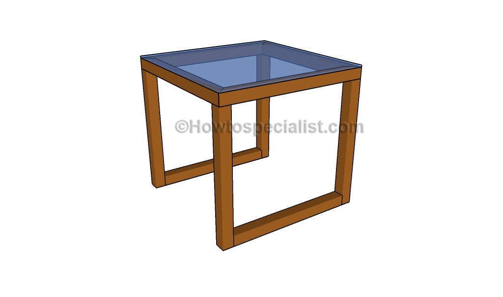Glass end table plans