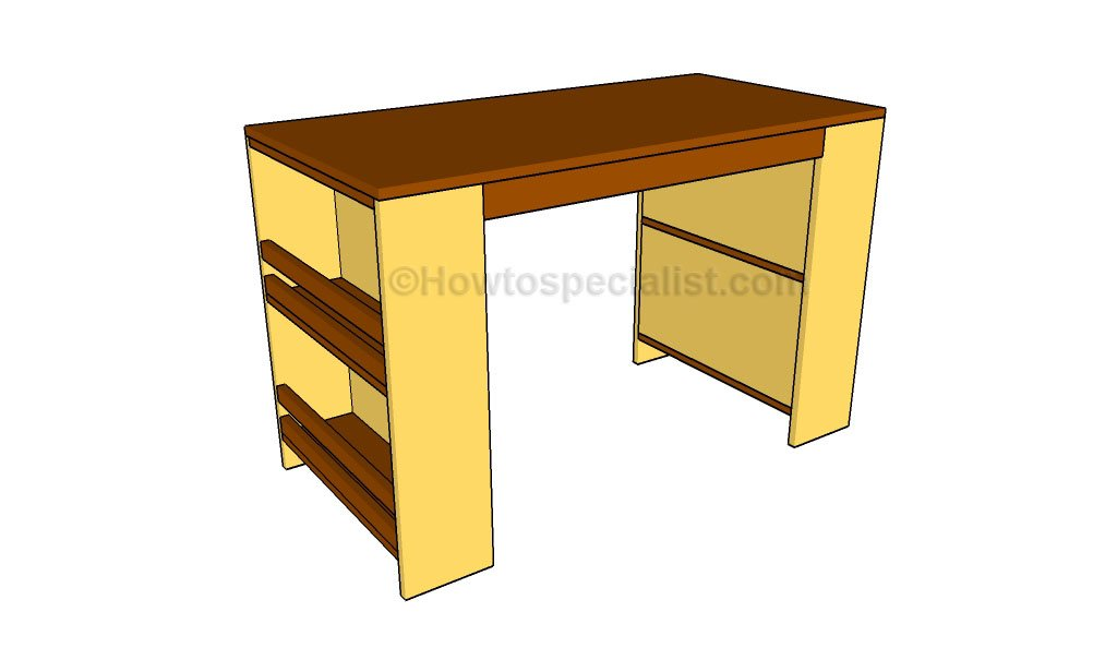 Kids Desk Plans HowToSpecialist How To Build Step By Step DIY Plans