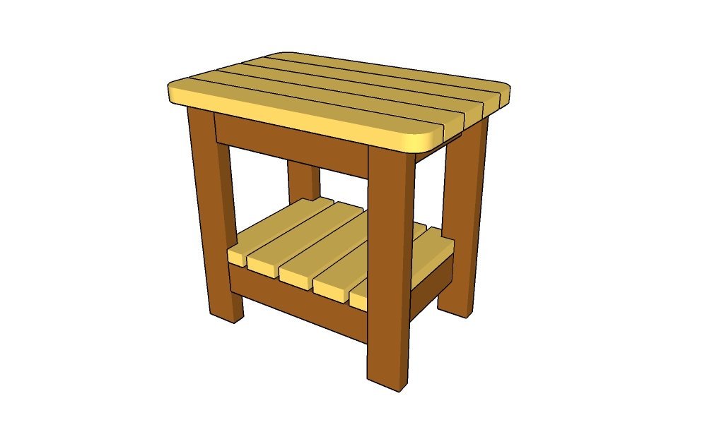 outdoor side table plans howtospecialist how to build