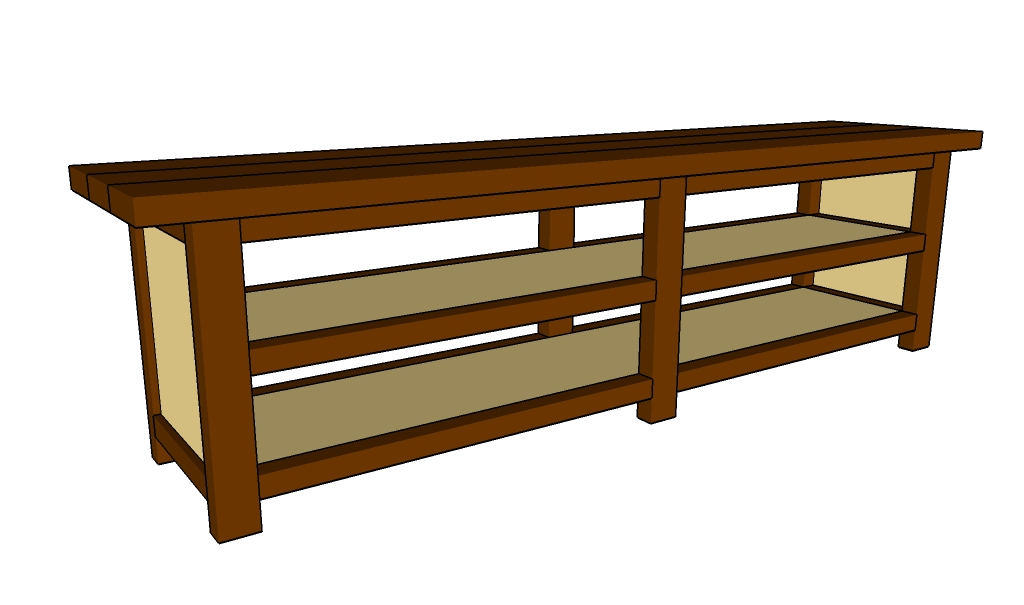 Console Table Woodworking ~ Sofa table plans howtospecialist how to build step by