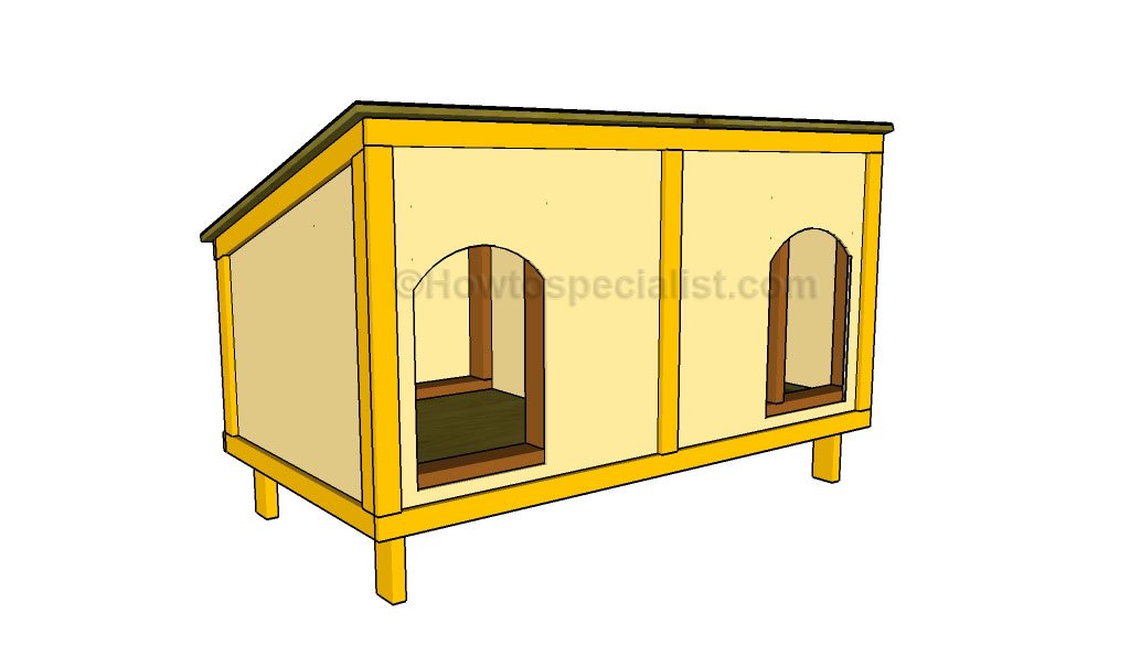 How to build a double dog house HowToSpecialist How to Build