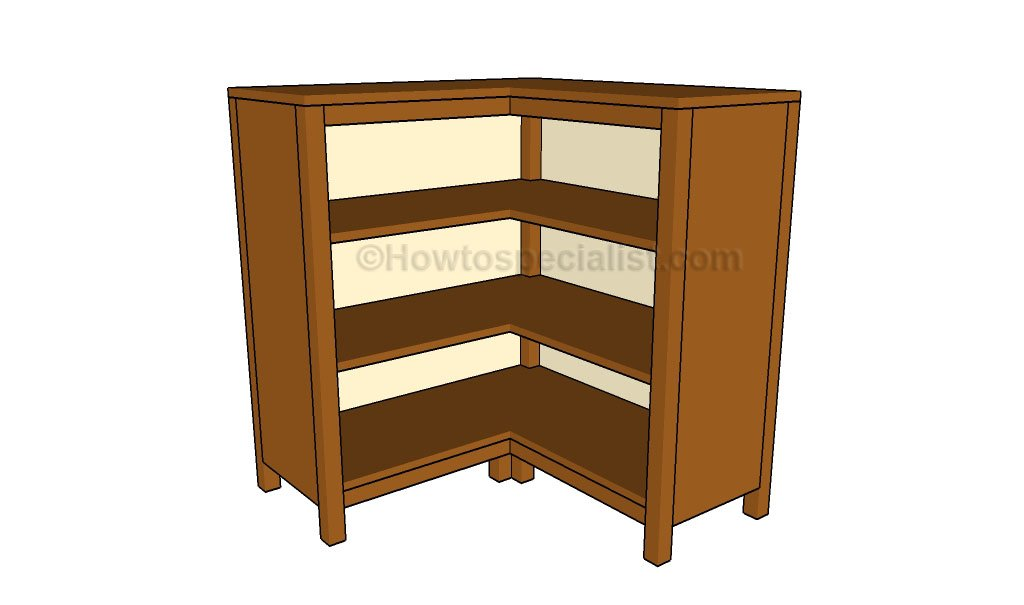 Corner Bookcase Plans | HowToSpecialist - How to Build, Step by Step ...
