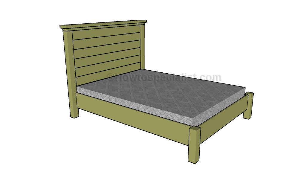 Queen Bed Frame Plans | HowToSpecialist - How to Build, Step by Step ...
