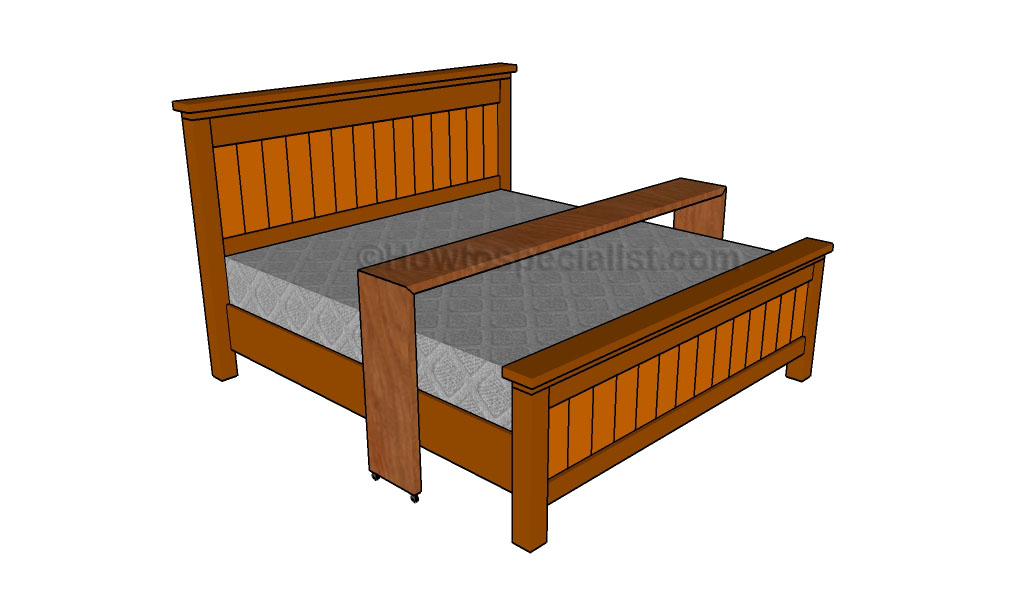 Marvelous This step by step diy woodworking project is about rolling bed table plans This rolling bed table is designed for a king size bed frame so make sure you
