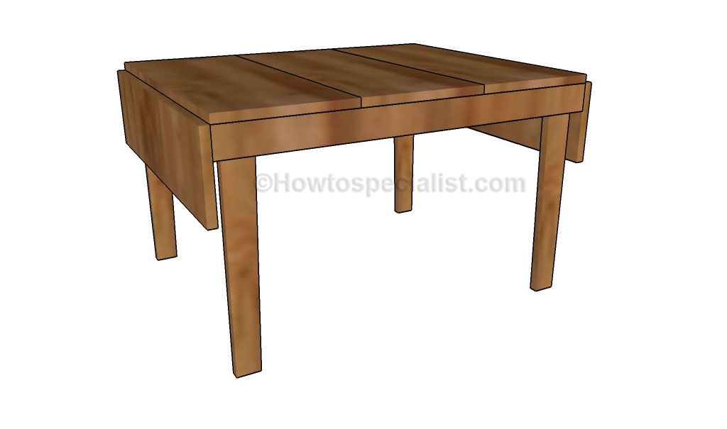 Drop Leaf Table Plans Howtospecialist How To Build Step By Step