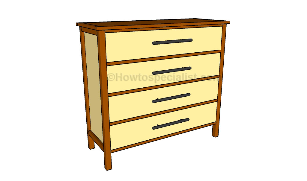 free dresser plans howtospecialist how to build step