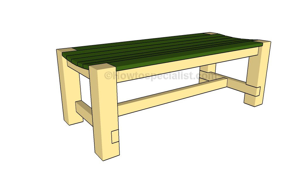 How to build a patio bench