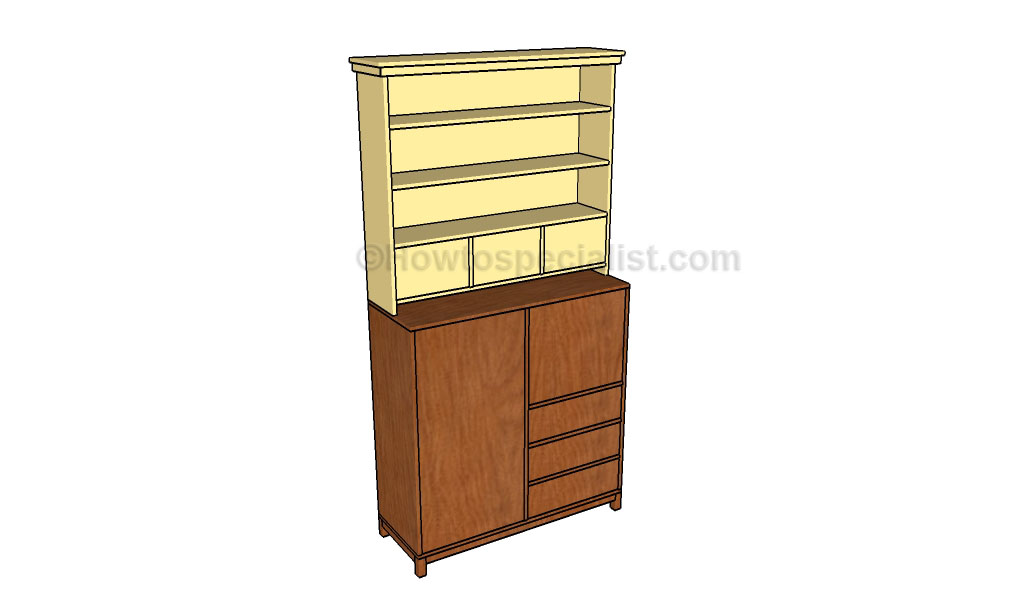 Office desk hutch plans howtospecialist how to build for Diy hutch plans