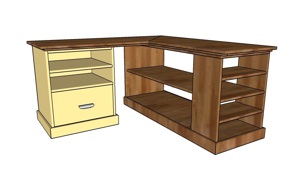 ... corner desk | HowToSpecialist - How to Build, Step by Step DIY Plans