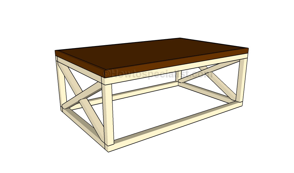 Rustic coffee table plans howtospecialist how to build Homemade coffee table plans