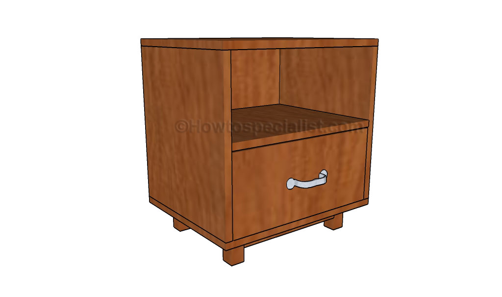 How to build a night stand howtospecialist how to for Nightstand plans