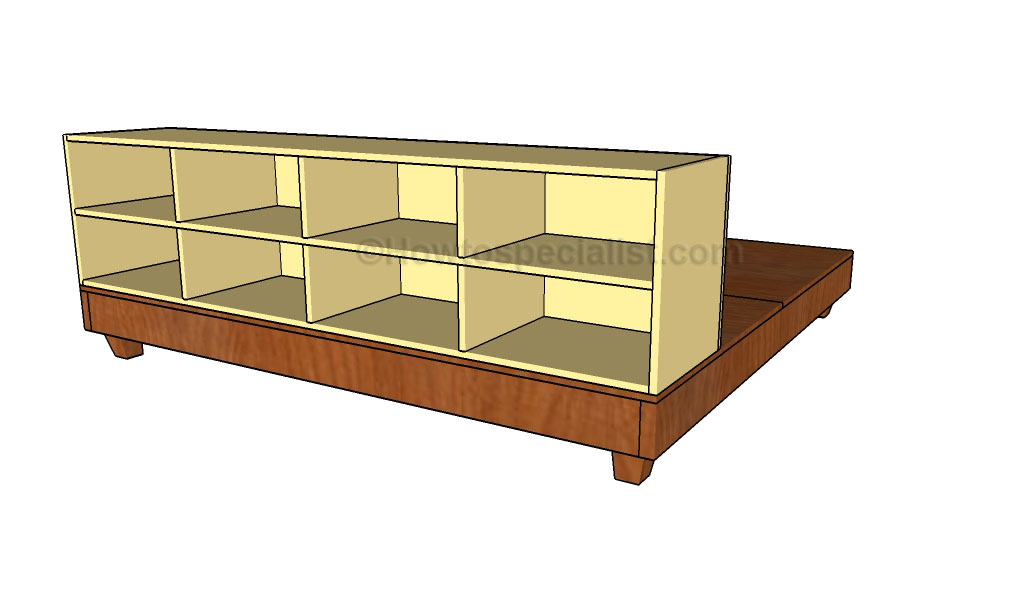 ... King Size Platform Bed. on plans for queen bed frame with drawers