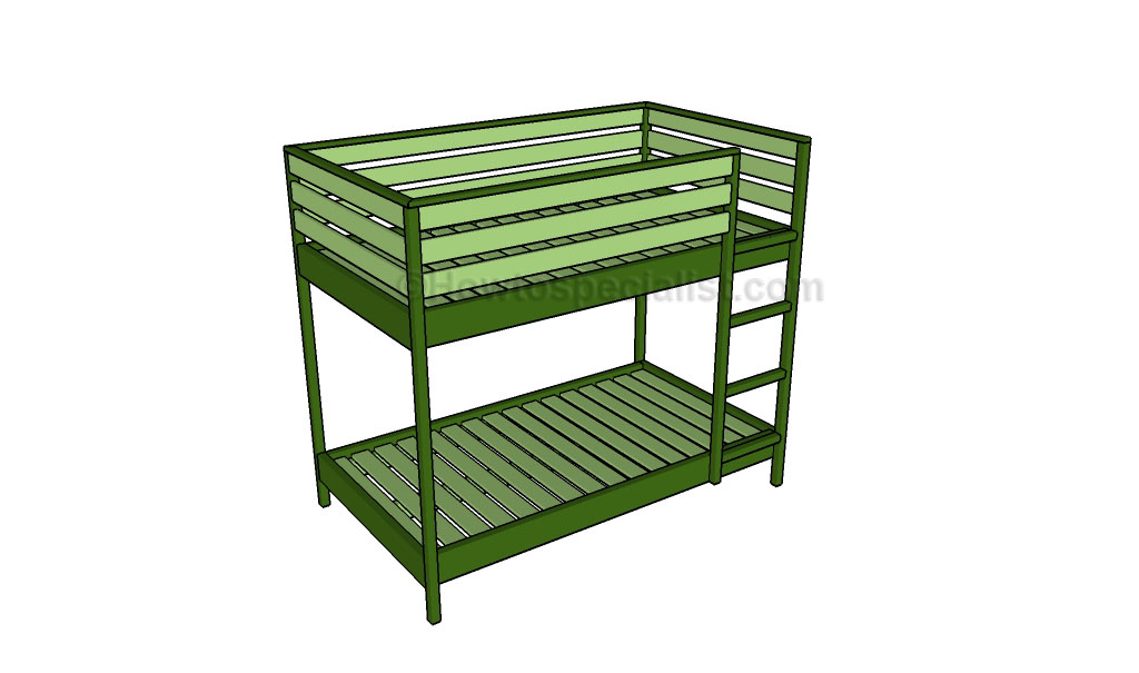 Bunk bed plans Toddler bunk bed plans How to build a loft bed