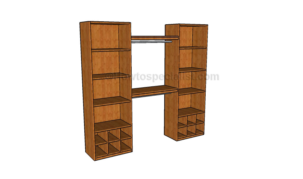 How to build a closet organizer howtospecialist how to for How to design closet storage