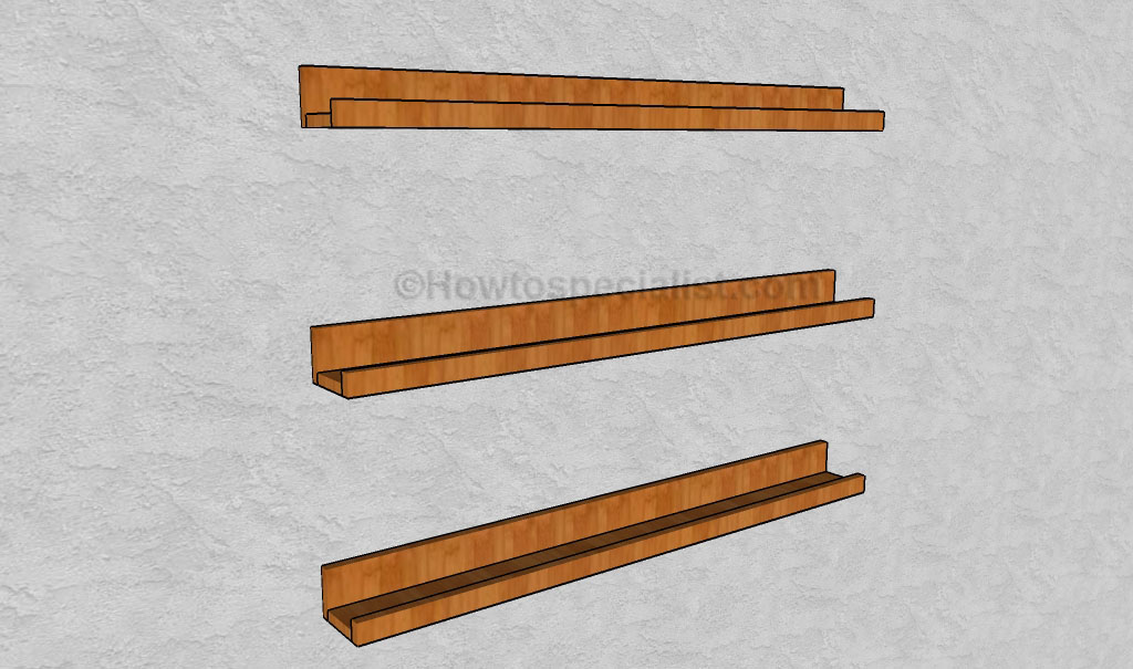 Ledge shelf plans | HowToSpecialist - How to Build, Step by Step DIY ...