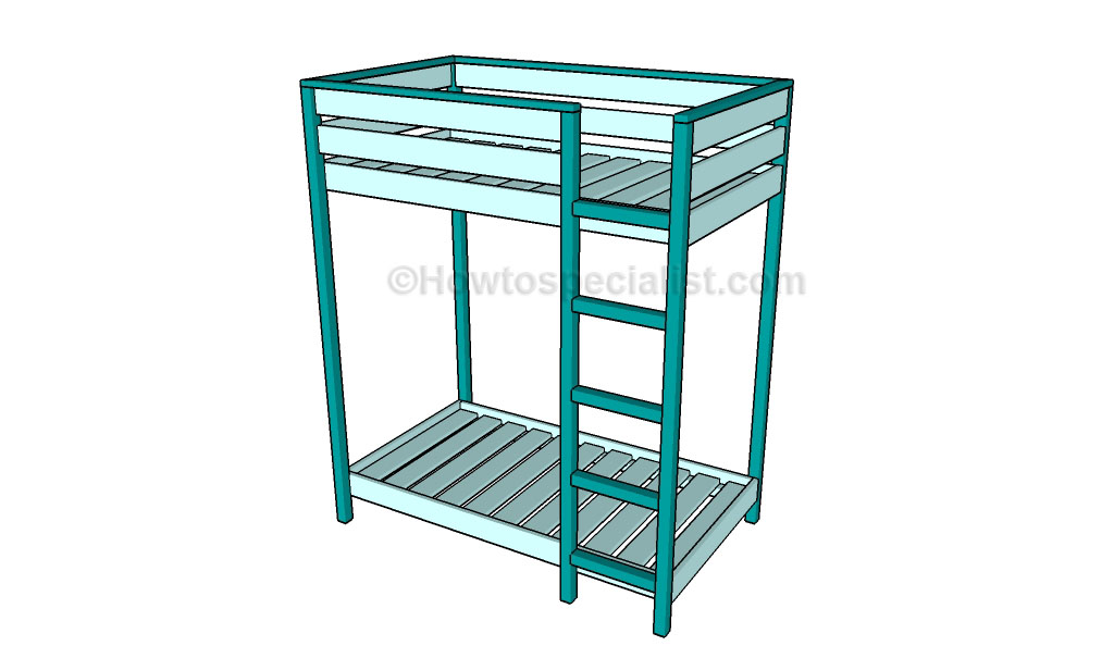 Picture of: Toddler Bunk Bed Plans Howtospecialist How To Build Step By Step Diy Plans
