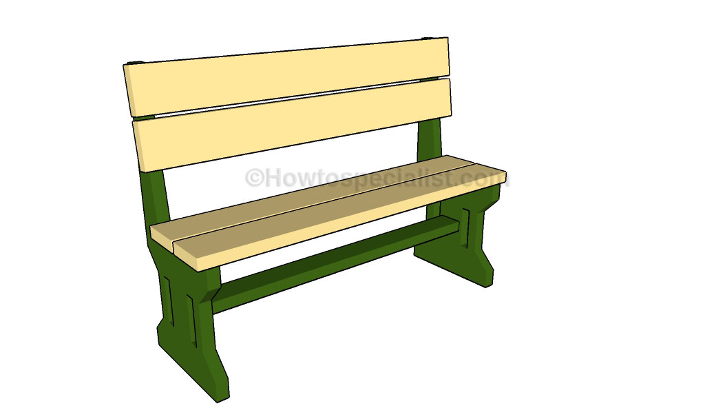 Park Bench Plans Howtospecialist How To Build Step By
