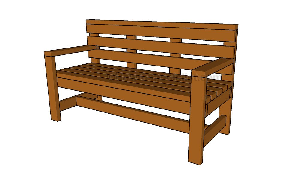 How to build a wooden bench Outdoor bench plans Adirondack bench plans
